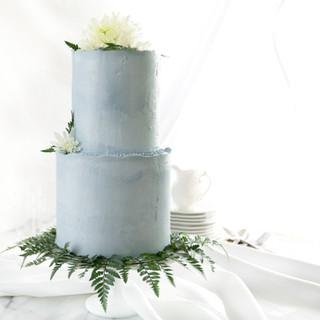 soft blue cake