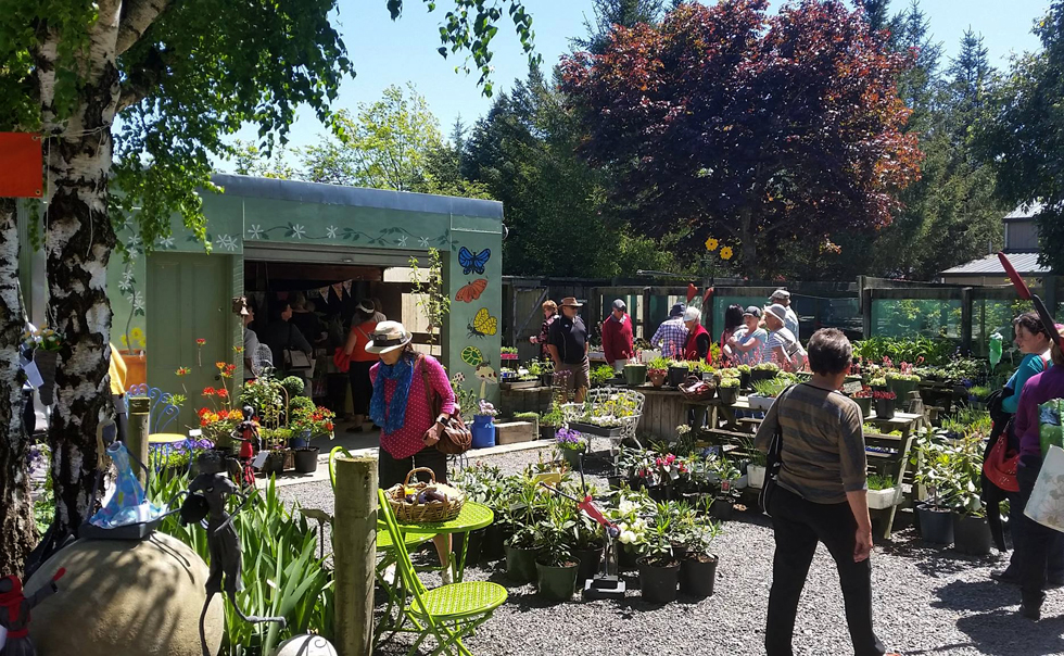 Garden lovers looking for treasures