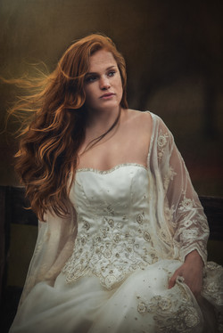 Redhead in Wedding Gown