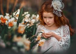 Child in Flower Garden