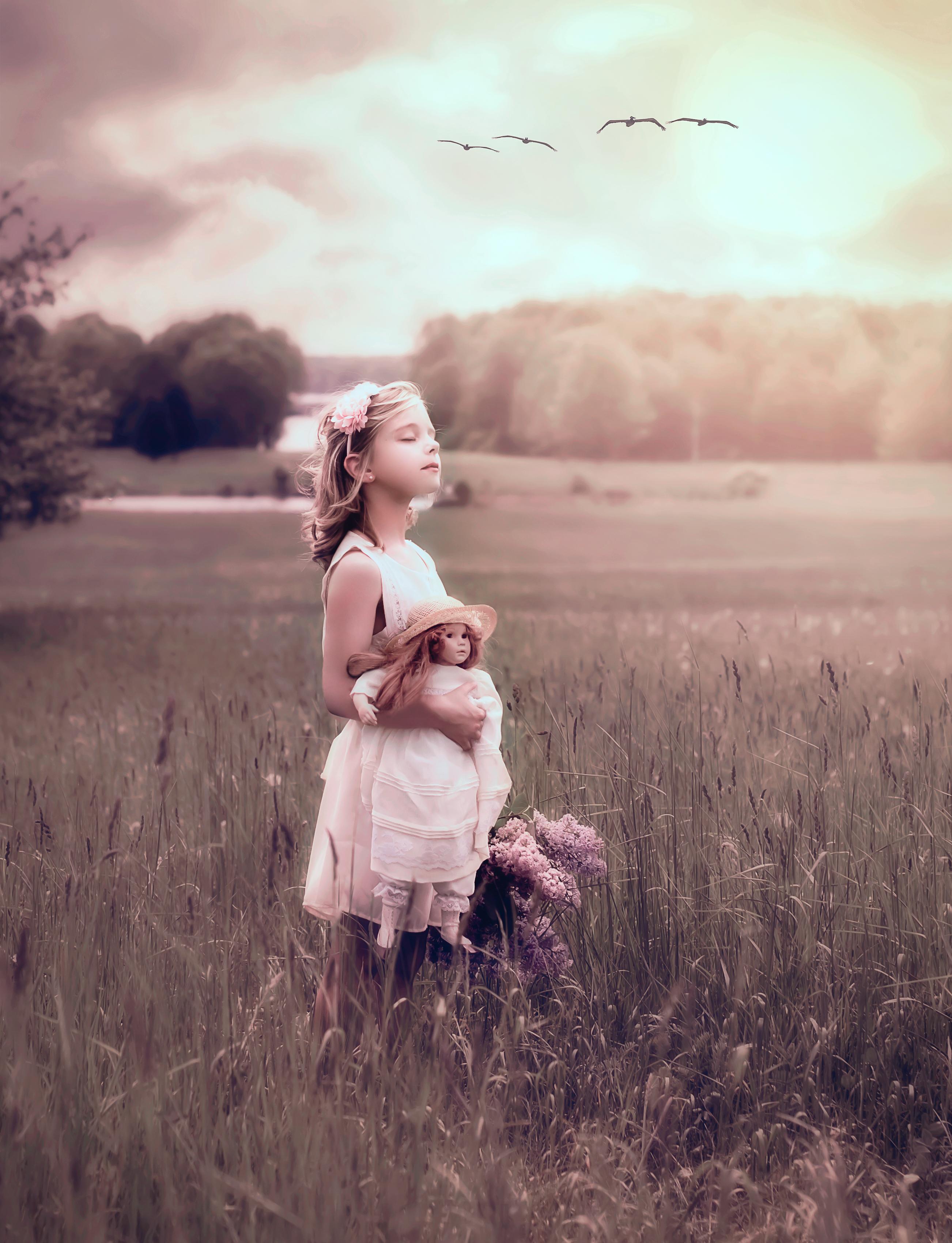 Child in Field