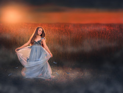 Twirling at Sunset