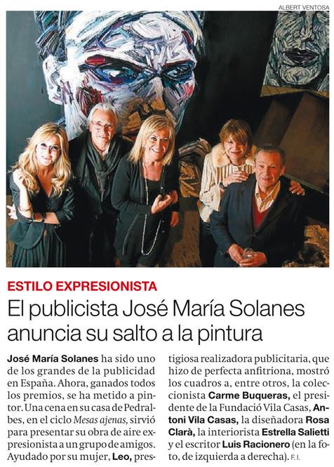 The publicist José María Solanes anounces his jump into painting