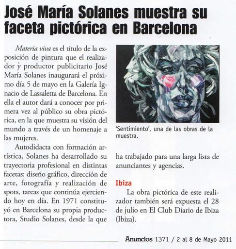 José María Solanes shows his artistic side in Barcelona