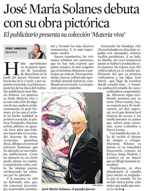 José María Solanes debuts with his paintings