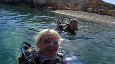 "dive center rethymno, dive center crete, centre de plongée en crete, First royal blue diver from the ""pool demo"" Such a good diver. Our very beginningcentre de plongée a rethymnon"