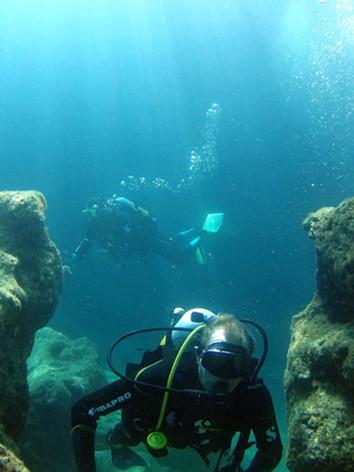 diving in crete, tauchen creta, centre de plongé rethymnon