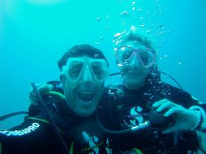 Jokin <3 et juliette, plongée sous marine rethymnon, plongée sous marine en cre
