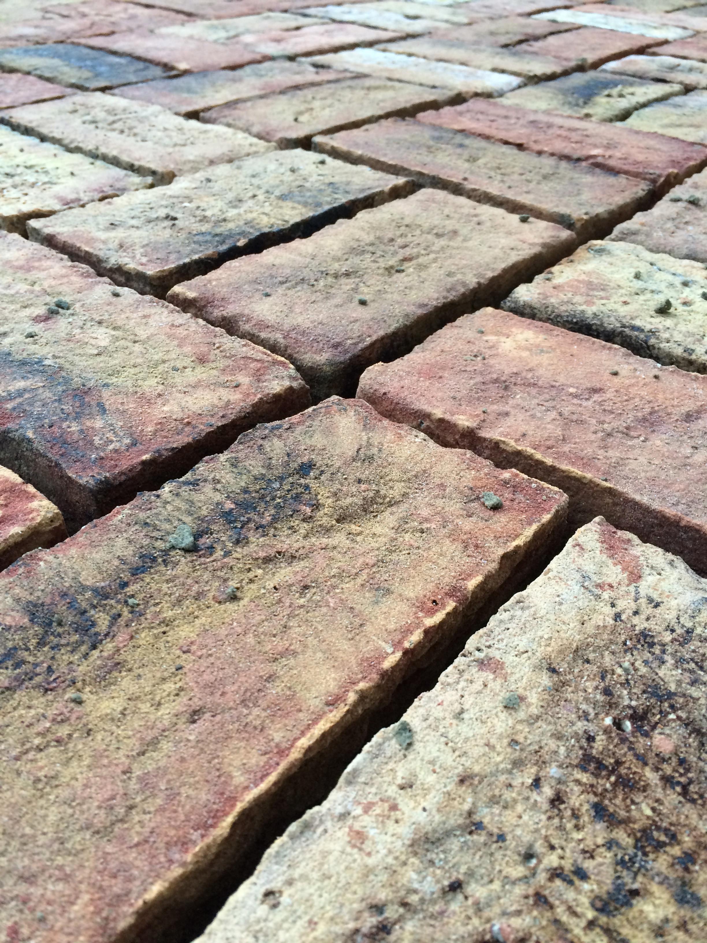 Hering-bone brick work