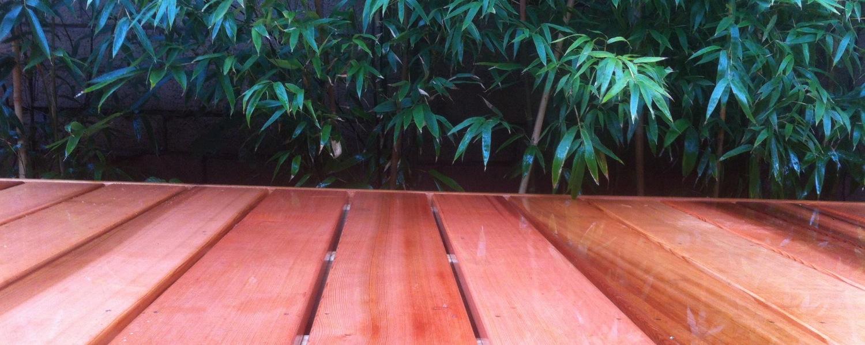 Clear grade cedar decking