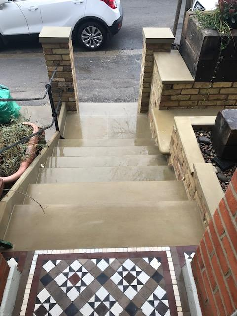 These steps were in when we put the walls in