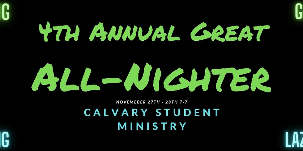 Great All-Nighter- Only 4 spots left! Reserve Now.