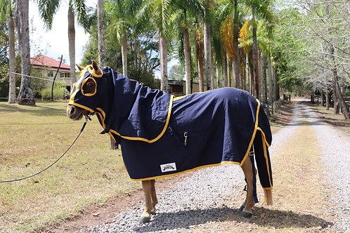 "Deluxe Navy Cotton Show Set Navy & Yellow Sizes 3' to 3'9"""