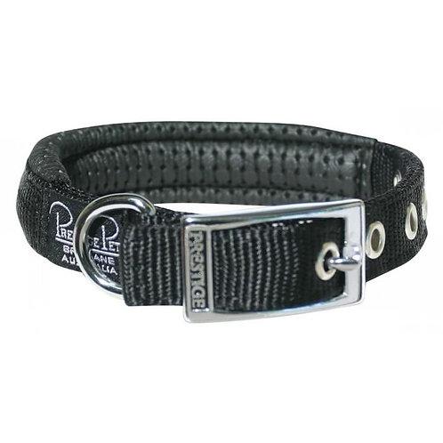 Prestige Pet Soft Padded Black Collar 3/4'' Buckle