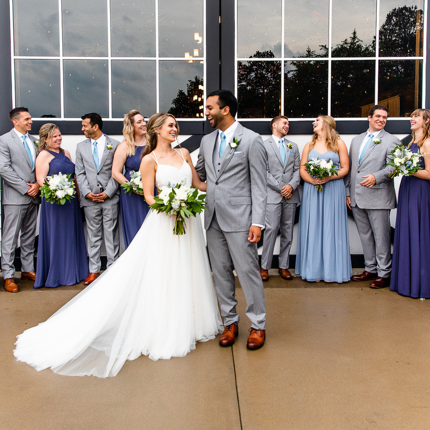 Bride and Groom with bridal party!