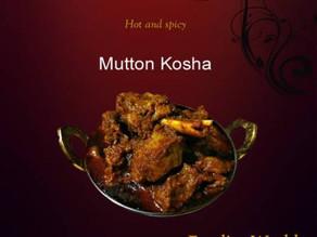 Mutton Kosha - an iconic Bengal delicacy.