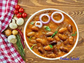 Dhaba style Punjabi Rajma Curry.
