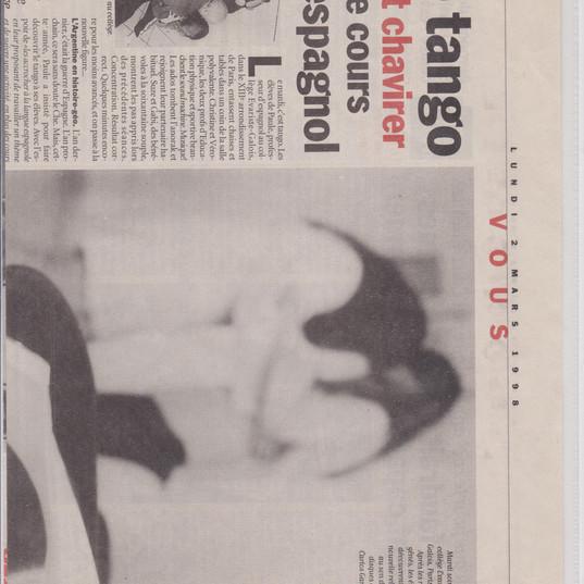 Reportage Tango à l'école dans Libération
