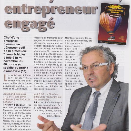 Interview dans la magzine pro Autocar et Bus Infos