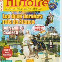 Collaboration avec le magazine pour enfants Histoire Junior