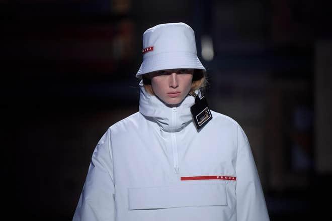 #prada #buckethat #fashion #rave #unisex #androgyny