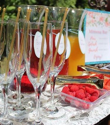 More shots of this Mimosa Bar setup from