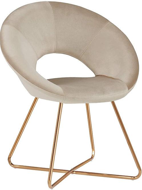Khaki Velvet Side Chair
