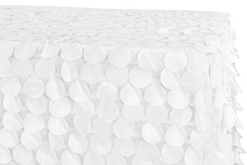 "90"" x 156"" Petal Circle Taffeta Tablecloth"