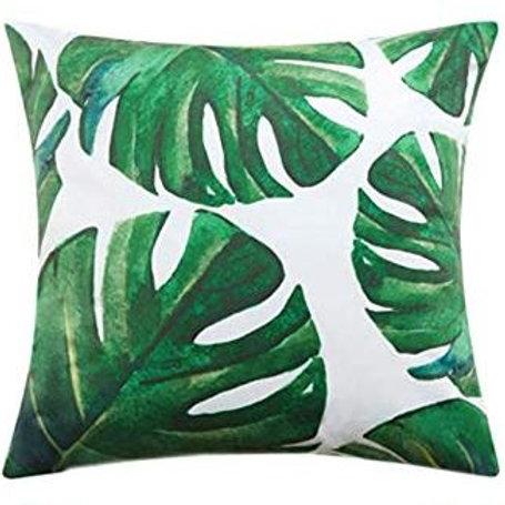 """18"""" Velvet Tropical Throw Pillow"""