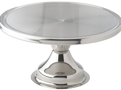 "13"" Stainless Steel Cake Stand"