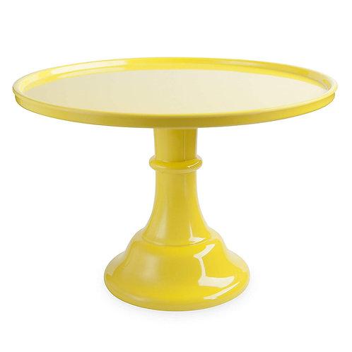 """11.5"""" Yellow Cake Stand"""