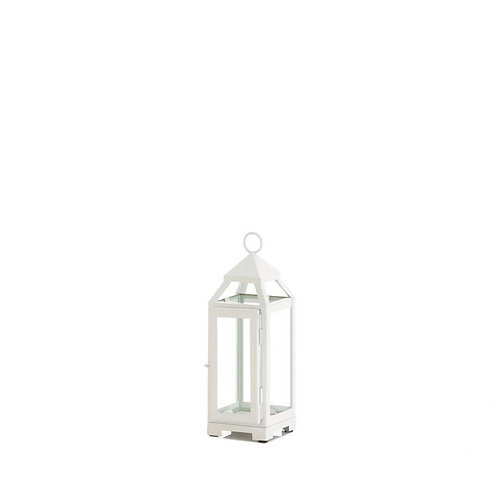 "9"" White Open Top Lantern"