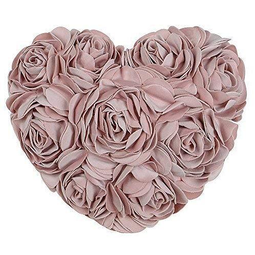 Rose Heart Shaped Throw Pillow