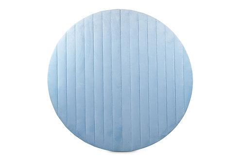 Baby Blue Round Velvet Wall