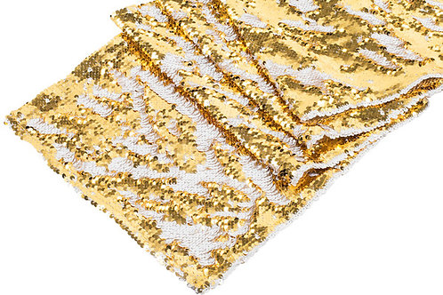 Reversible Two Tone Sequin Table Runner