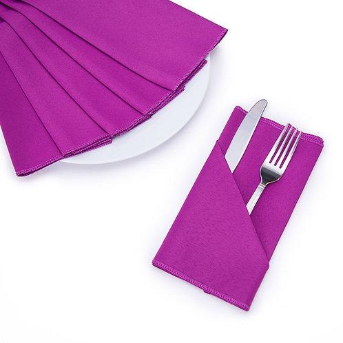 "17"" x 17"" Purple Wine Polyester Napkin"
