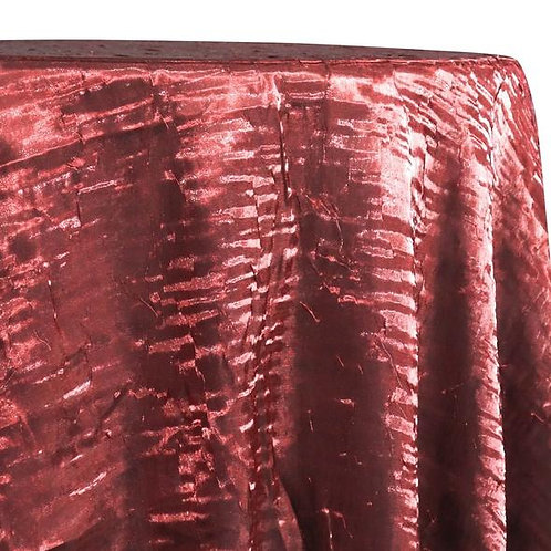 """Red 90"""" x 156"""" Crushed Shimmer Iridescent Tablecloth"""