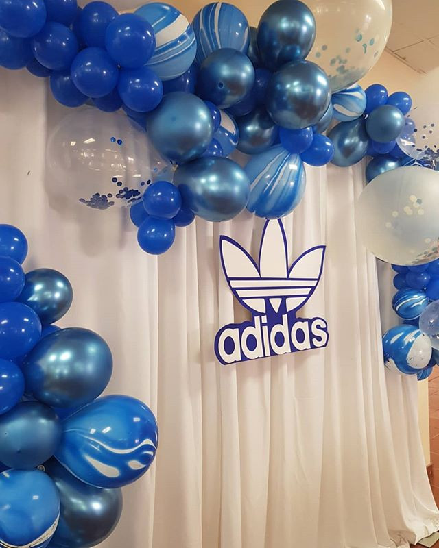 Adidas cake table backdrop today for a s