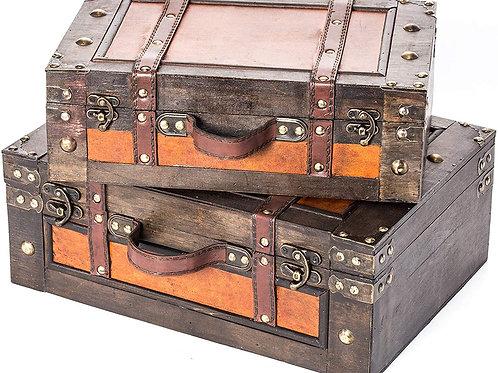 Vintage Wood Suitcases