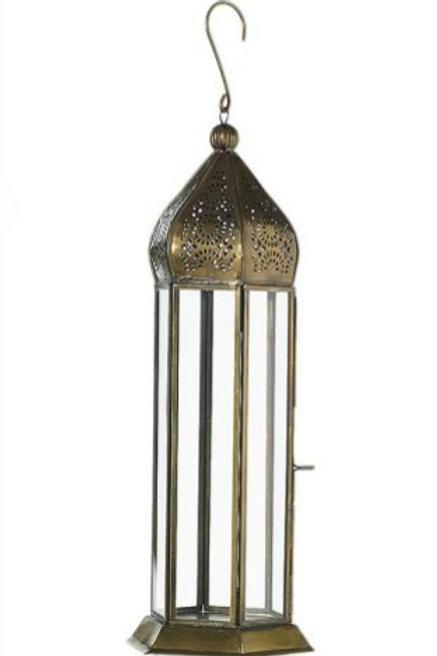 "13"" Bronze Moroccan Lantern"
