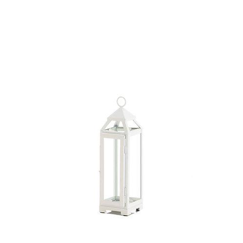 """13"""" White Open Top Lantern"""