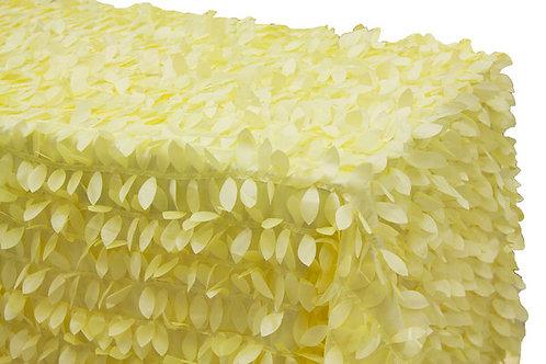 "90"" x 156"" Leaf Petal Taffeta Tablecloth"