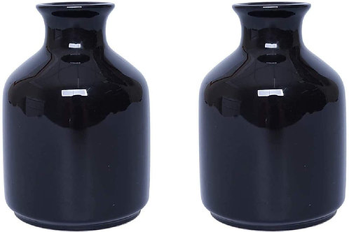 "5"" Black Glass Bud Vase"