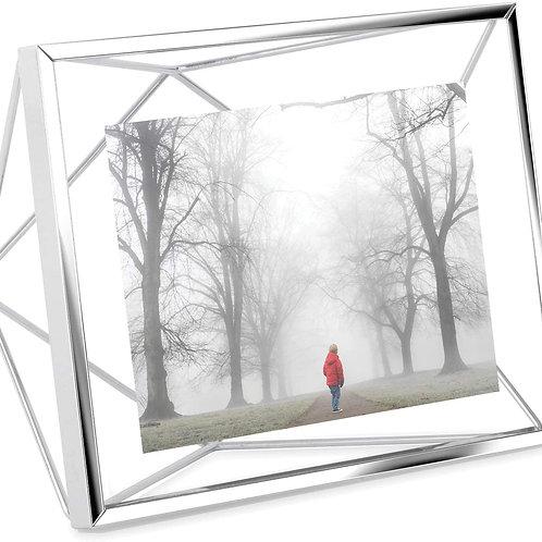 "4"" x 5"" Silver Geometric Frame"