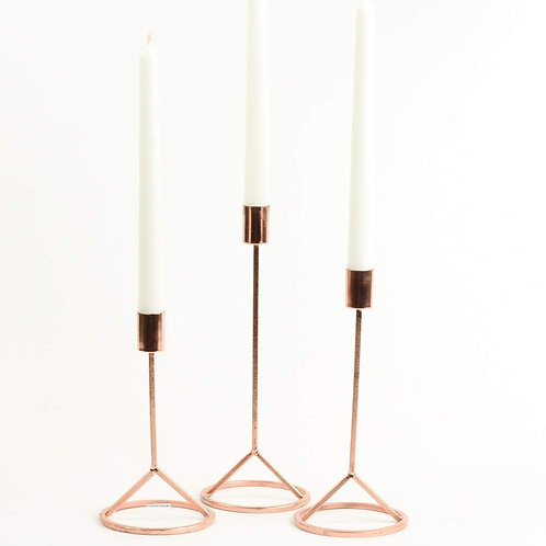 Rose Gold Taper Candle (Set of 3)