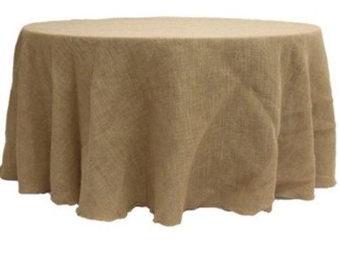 """132"""" Burlap Tablecloth"""