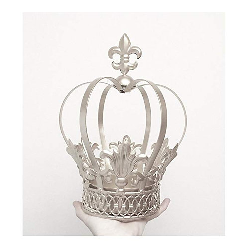 "12.5"" Silver Metal Crown"