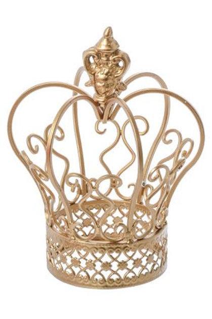 "8.5"" Gold Metal Crown"
