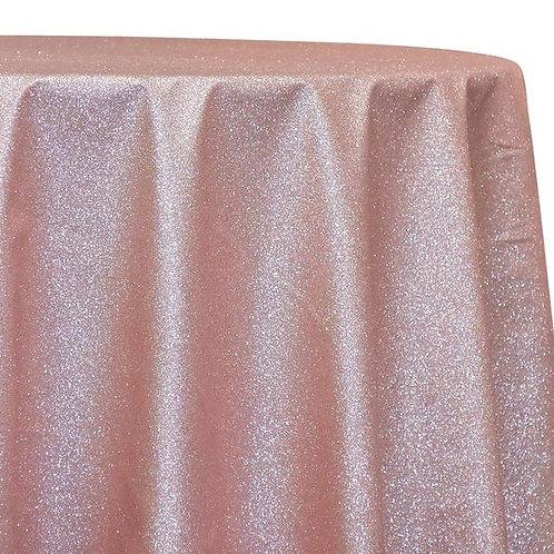 "90"" x 156"" Glam & Glits Blush Tablecloths"