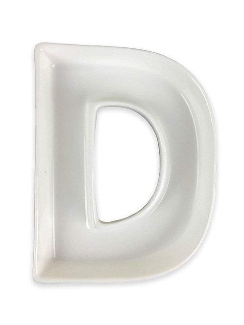 """5.5"""" Ceramic Letter Dish"""